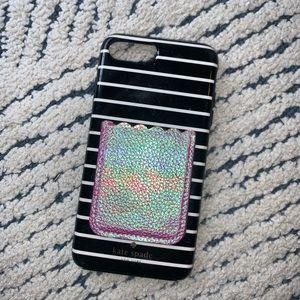 iPhone 7plus kate spade striped case